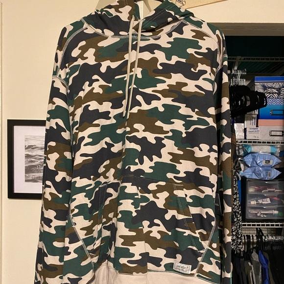 Eddie Bauer Camo Hooded Sweatshirt